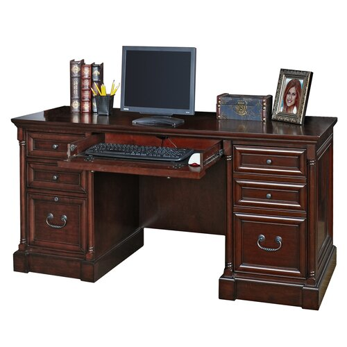 Mount View Executive Desk With Drawers Wayfair Supply