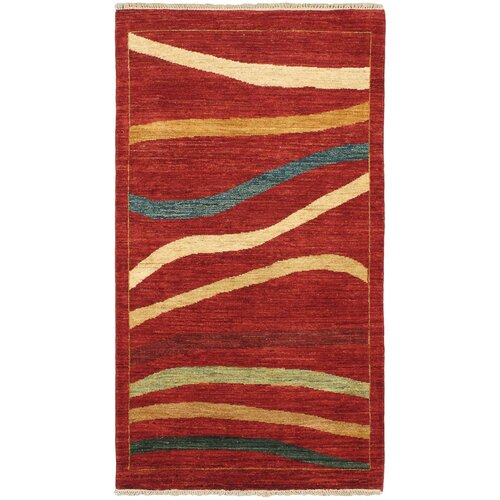 Finest Ziegler Chobi Dark Red Abstract Rug