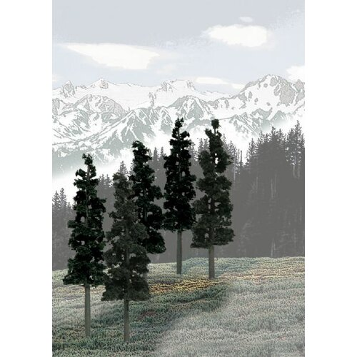 Woodland Scenics Ready Made Tree Value Conifer (Set of 12)