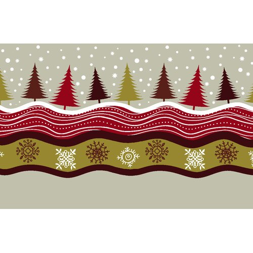 Christmas Trees Novelty Rug