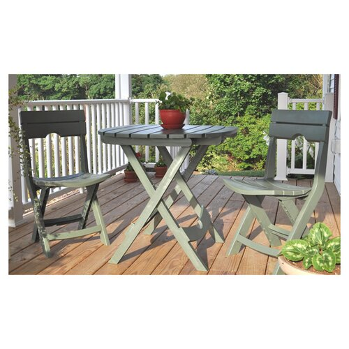 Adams Manufacturing Corporation Quik-Fold 3 Piece Cafe Dining Set