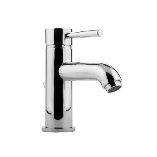 One Handle Single Hole Low Rise Bathroom Faucet
