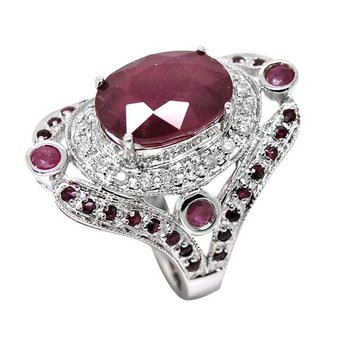 Genuine White Gold Ruby Ring