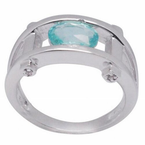 DeBuman Sterling Silver Oval Cut Apatite and Topaz Ring