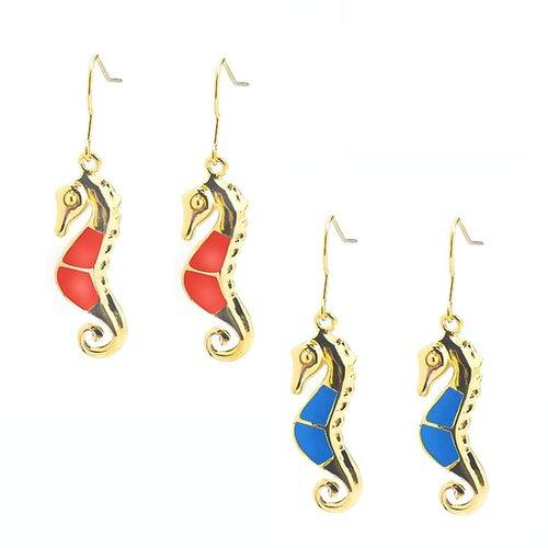 DeBuman Sea Horse Drop Earrings