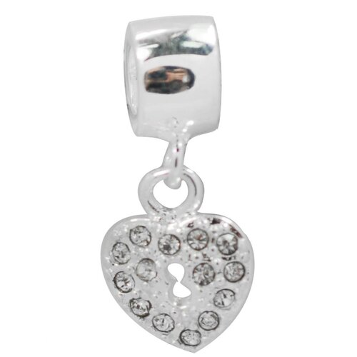 Crystal Heart Dangle Fashion Bead Charm