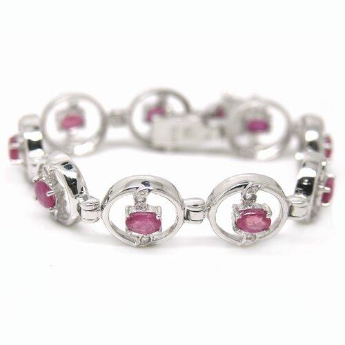 Natural Ruby Link Bracelet