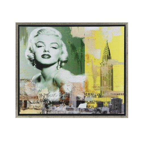 Amrita Singh Marilyn and the Chrysler Framed Graphic Art
