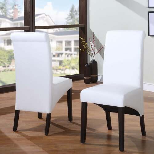 Cosmo Leather Parson Chair(set of 2)