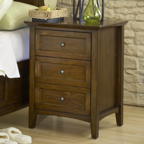 Paragon 3 Drawer Nightstand