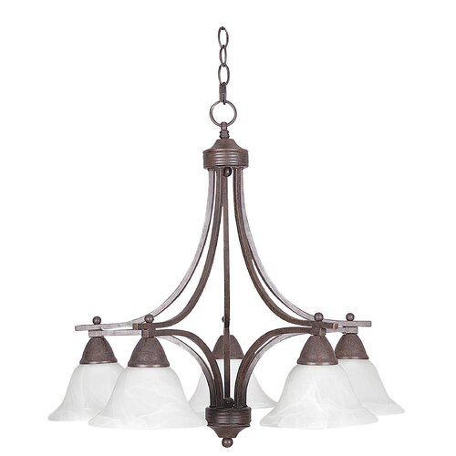 Sunset Lighting Metropolitan 5 Light Chandelier