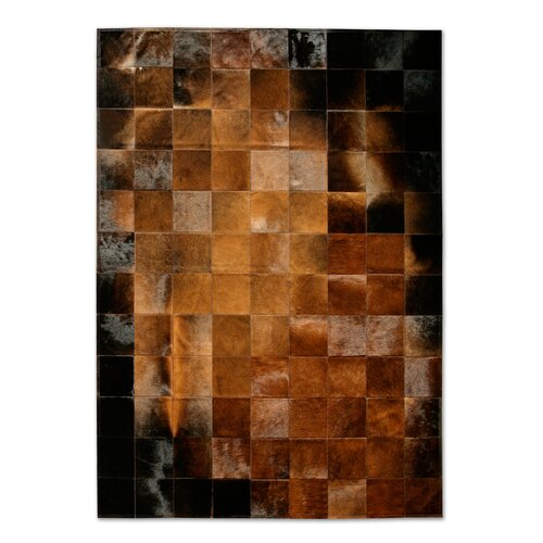 Patchwork Cowhide Park Normand Rug