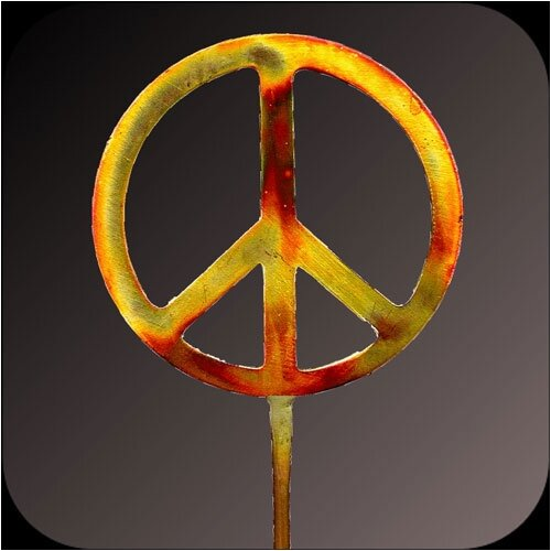 Art Matters Peace Sign Garden Stake