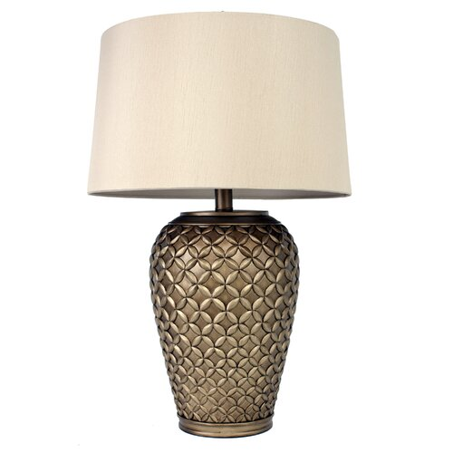 hunt home etched 30 5 table lamp with empire shade reviews. Black Bedroom Furniture Sets. Home Design Ideas