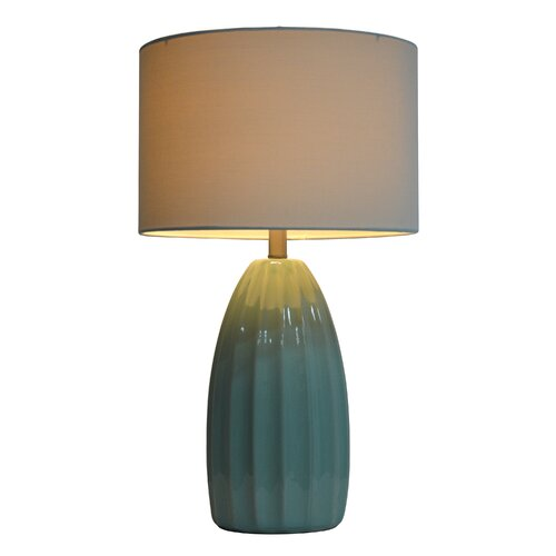 hunt home 27 h table lamp with drum shade. Black Bedroom Furniture Sets. Home Design Ideas