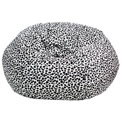 Animal Skin Dalmatian Print Bean Bag Chair