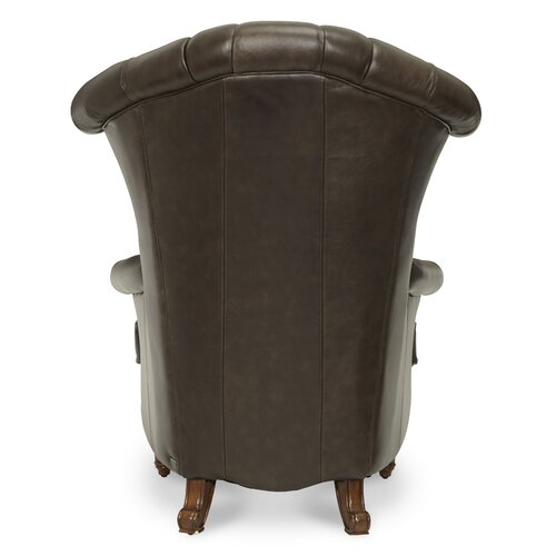 Michael Amini Trevi Leather High Back Chair