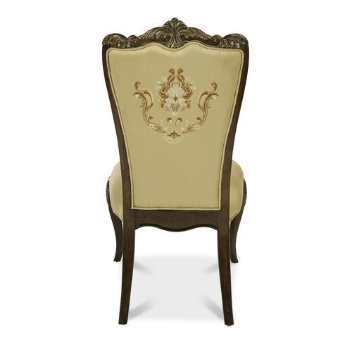 Michael Amini Imperial Court Fabric Back Side Chair
