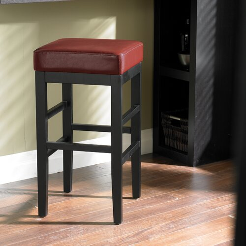 "Sunpan Modern Jacob 26"" Bar Stool with Cushion"
