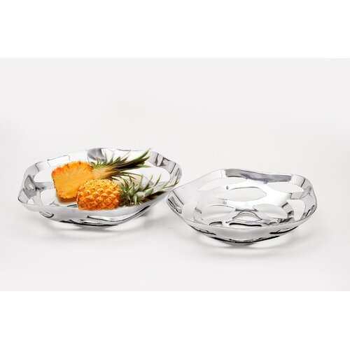 Fashion N You by Horizon Interseas Oval Perforated Bowl