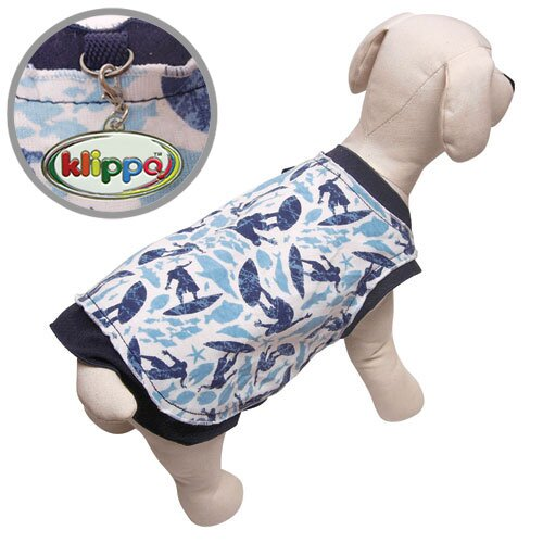 "Klippo Pet Lightweight ""Fun In The Surf"" Dog Tank Top"