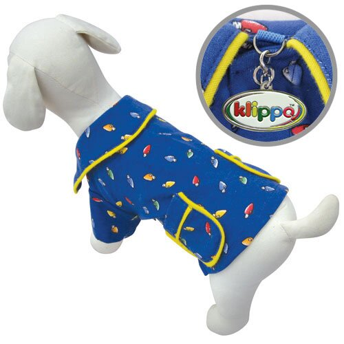 Klippo Pet Adorable Festive Light Bulbs Dog Pajamas Shirt
