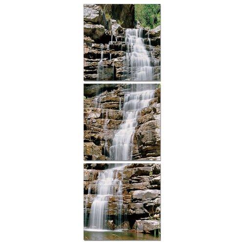 Vertical Waterfalls 3 Piece Photographic Print Set