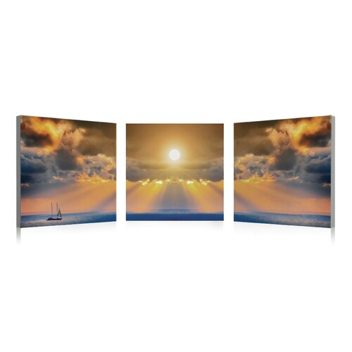 Artistic Bliss Sunset 3 Piece Photographic Print Set