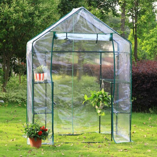 Arcadia Garden Products 2-Sided 2.5' W x 4.5' D Walk-in -Greenhouse