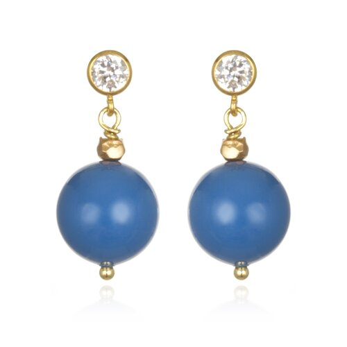 Amanda Rudey Timeless Beauty Crystal Lapis Cultured Pearl Kirsten Earrings