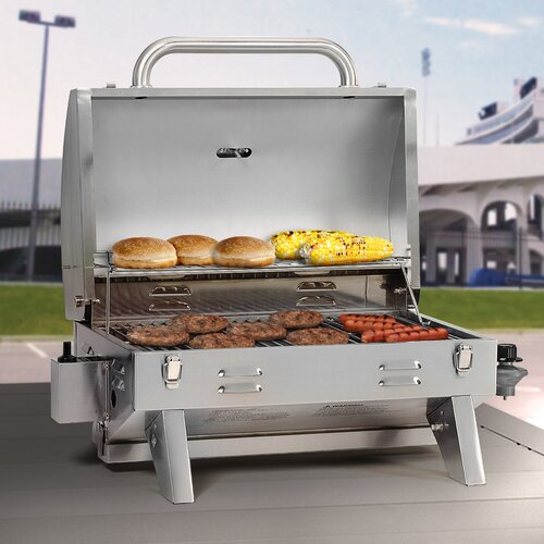 Outdoor Leisure Products Aussie 26 5 LP Gas Grill With Tabletop R