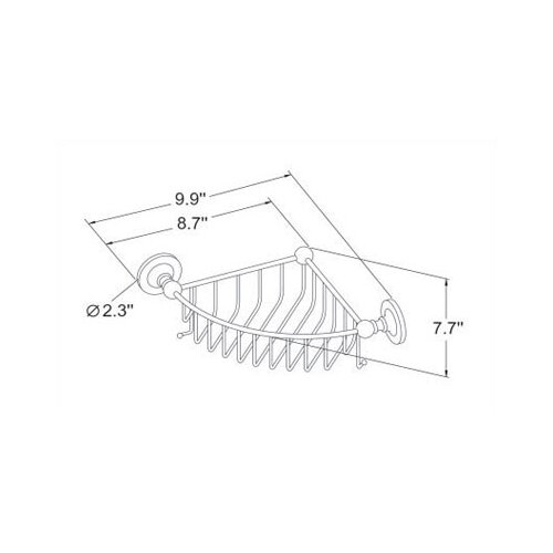 Empire Industries Carlton Extra Deep Corner Basket