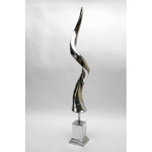 Vita V Home Silver Antelope Horn Statue