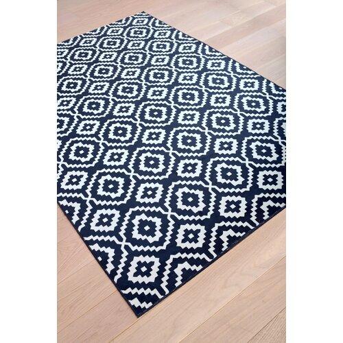 abacasa sonoma verona navy white area rug. Black Bedroom Furniture Sets. Home Design Ideas