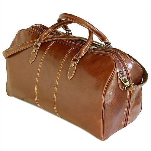 "Floto Imports Venezia 21"" Leather Travel Duffel"