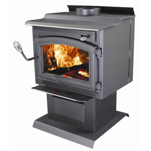 Vogelzang Shiloh 1,200 Square Foot Wood Stove with Blower and Ash Drawer