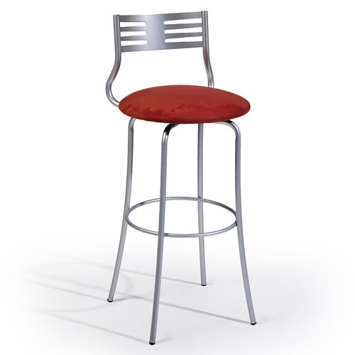 "Createch Sam 24"" Swivel Bar Stool with Cushion"