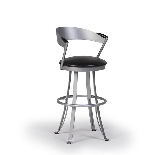 "Createch Kro 24"" Swivel Bar Stool with Cushion"