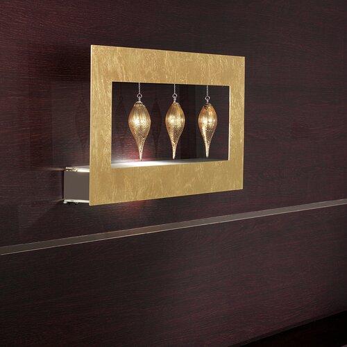 Masiero Klok 1 Light 3 Glass Drop Wall Sconce
