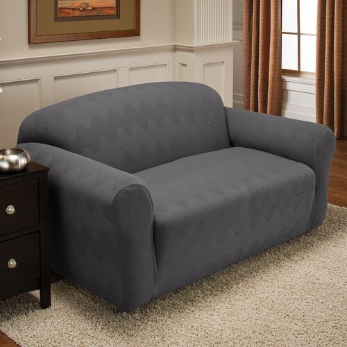 Optics Stretch Loveseat Slipcover
