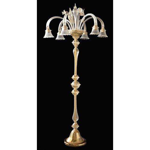 Cristalstrass Murano & Crystal Geremia 6 Light Floor Lamp