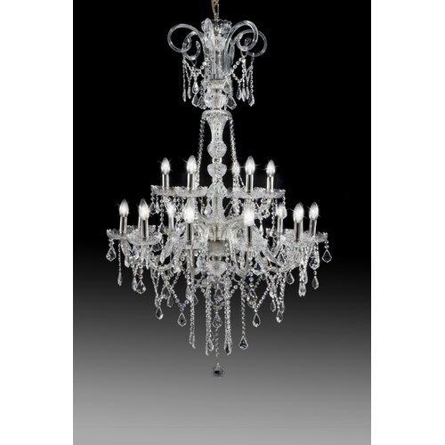 Cristalstrass Murano & Crystal Hollywood 18 Light Crystal Chandelier