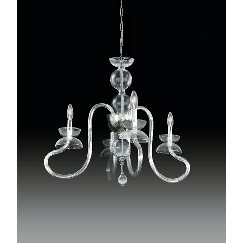 Miro 4 Light Crystal Chandelier