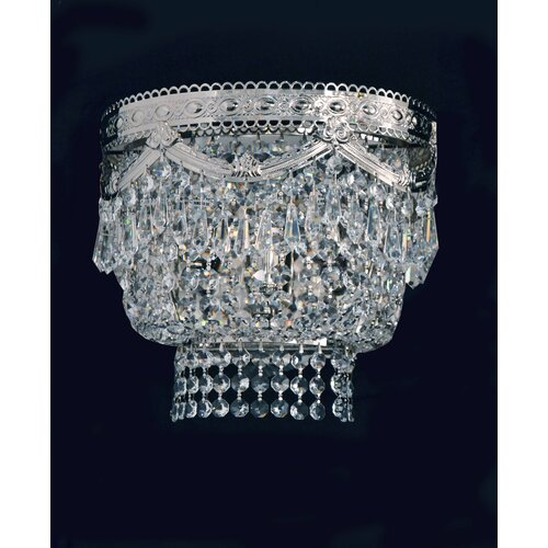 Cristalstrass Murano & Crystal Pegaso 3 Light Crystal Wall Sconce