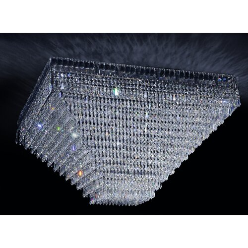 Cristalstrass Murano & Crystal Cheops Crystal 10 Light Flush Mount
