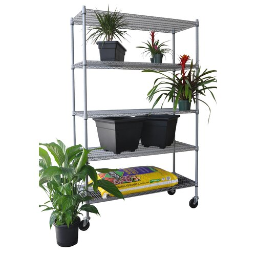 "Trinity NSF All Weather 77"" H 5 Shelf Shelving Unit Starter"