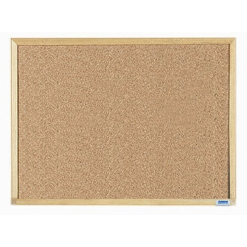 AARCO Economy Series Natural Pebble Grain Cork Bulletin Board