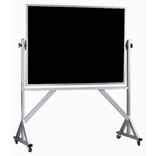 AARCO Reversible Free Standing Black Chalkboard with Aluminum Frame