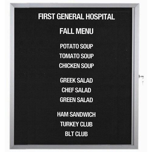 AARCO Enclosed Directory Board in Black