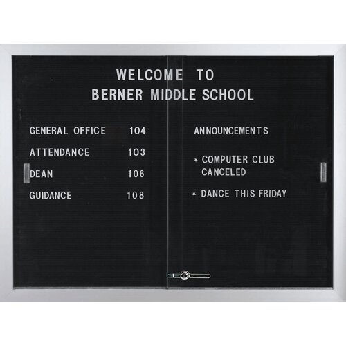 AARCO Enclosed Directory Board